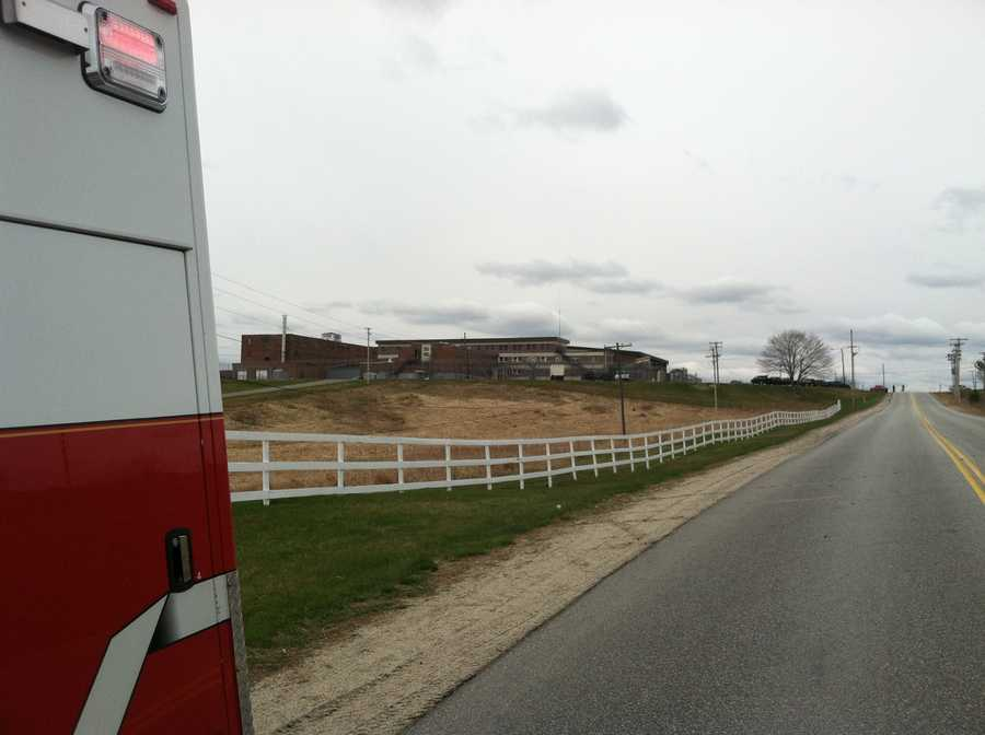 No one was hurt when a vehicle caught fire in a garage that is separate from the prison building.
