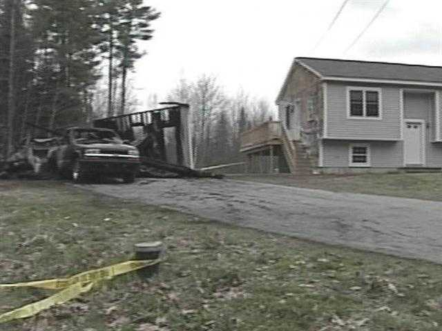 April 8: Crews were able to stop the flames from spreading to the home.