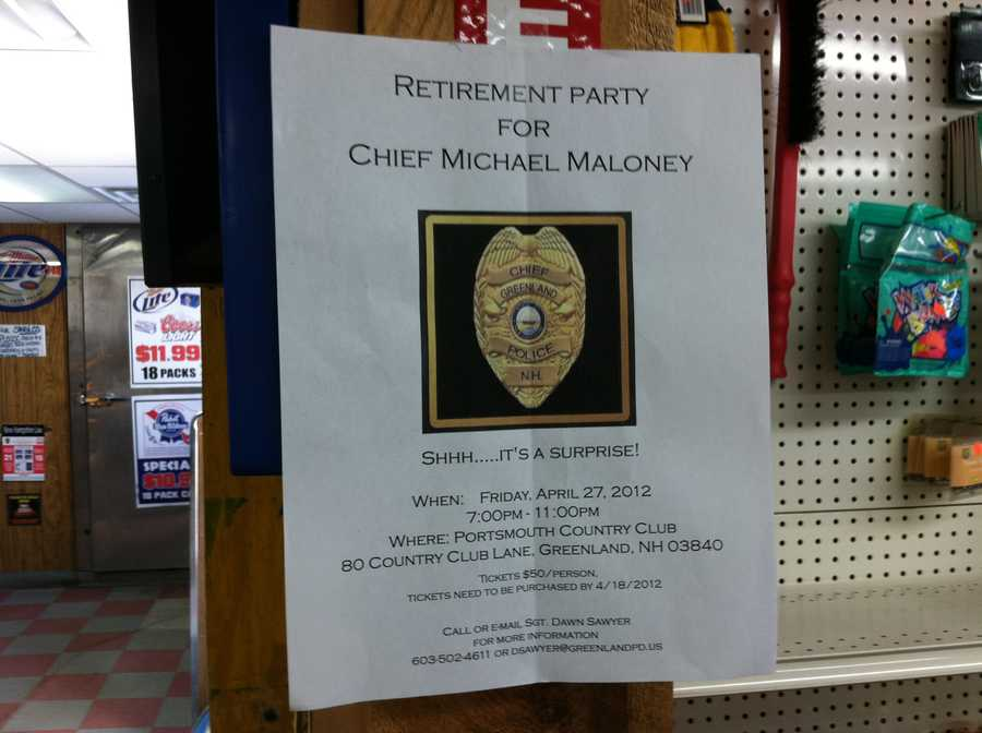 A retirement party was planned for later this month for Maloney.