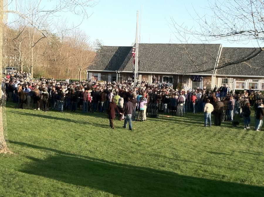 A large crowd attended Friday's vigil.