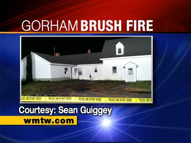 April 18: The grass at 363 Sebago Road was set on fire Wednesday morning.