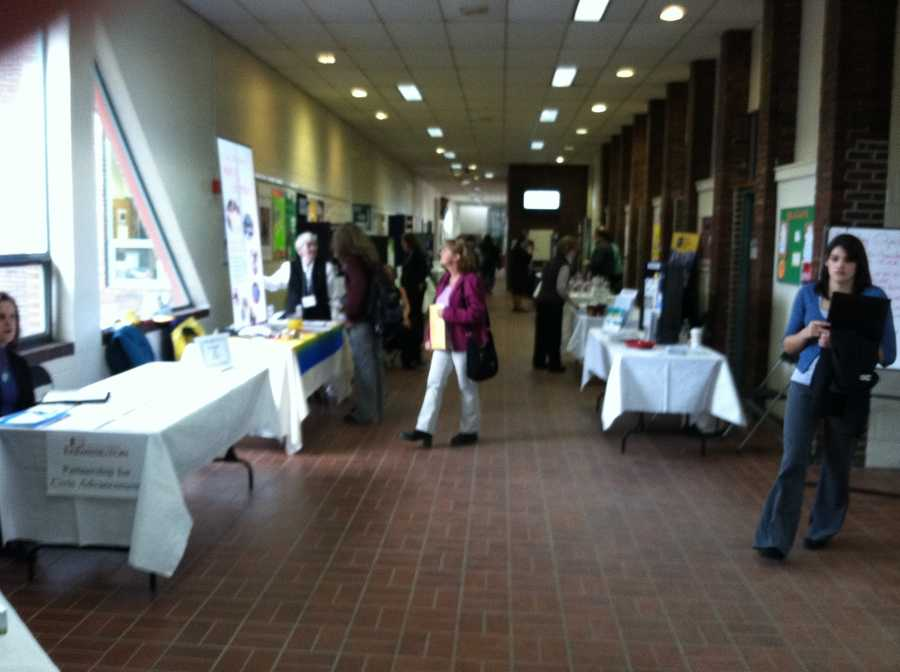 The University of Maine at Farmington held its annual job fair on Tuesday.