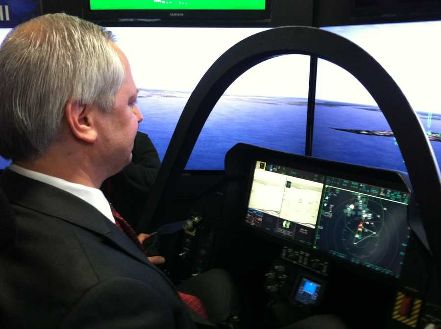 Lockheed Martin wanted workers to know first-hand what it was like to be in the cockpit of a fighter jet.
