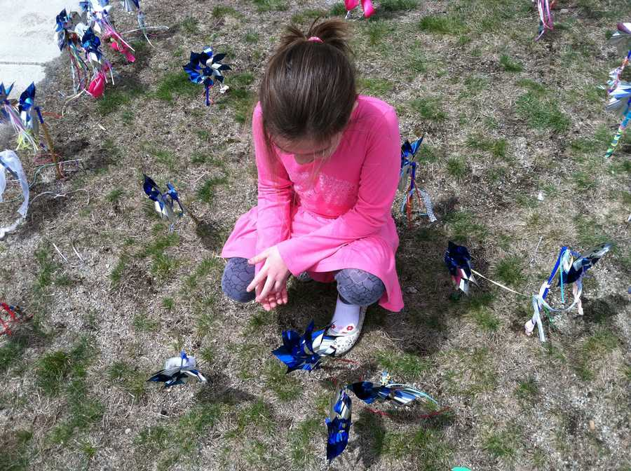 Along with the garden at Kennebunk Elementary School, students at all elementary schools in RSU 21 have planted pinwheels as well.