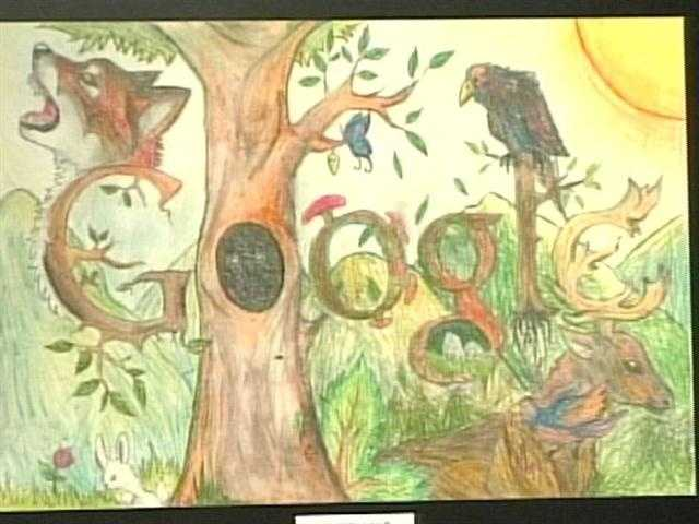 Robertson says her Google doodle was inspired by her love on the woods.
