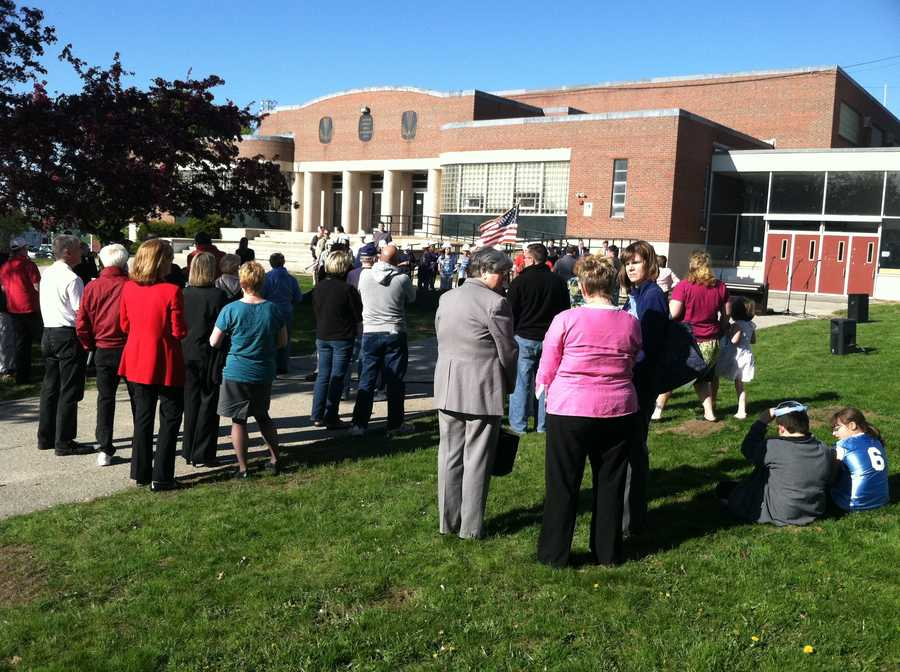 A groundbreaking was held Monday evening at South Portland High School.