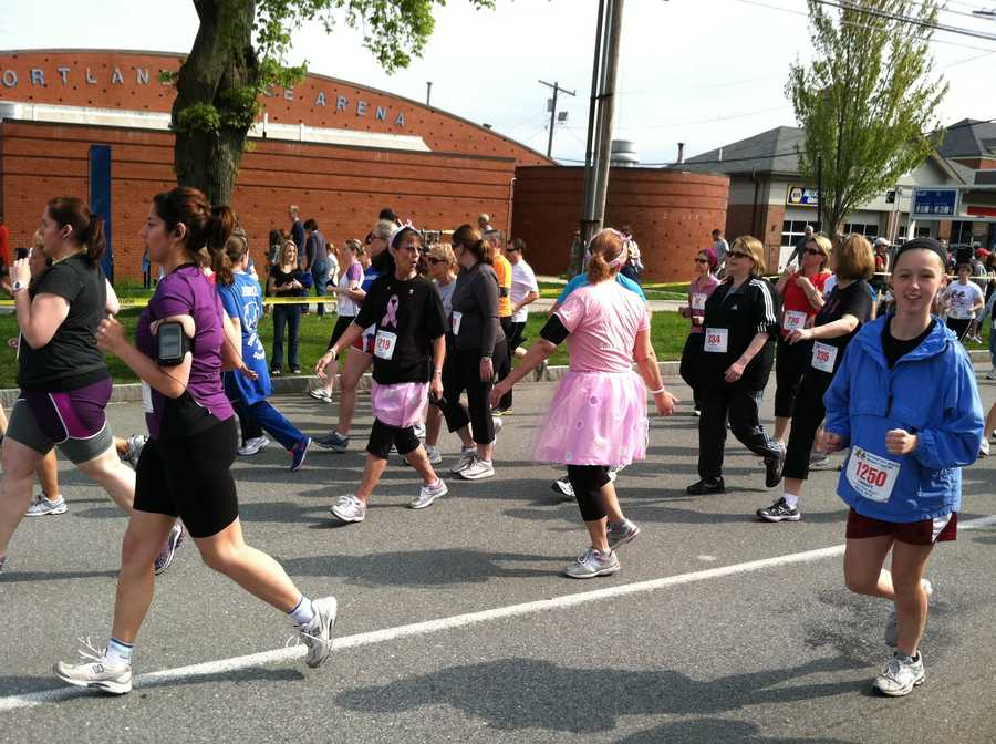 The course began in front of the Portland Expo building.
