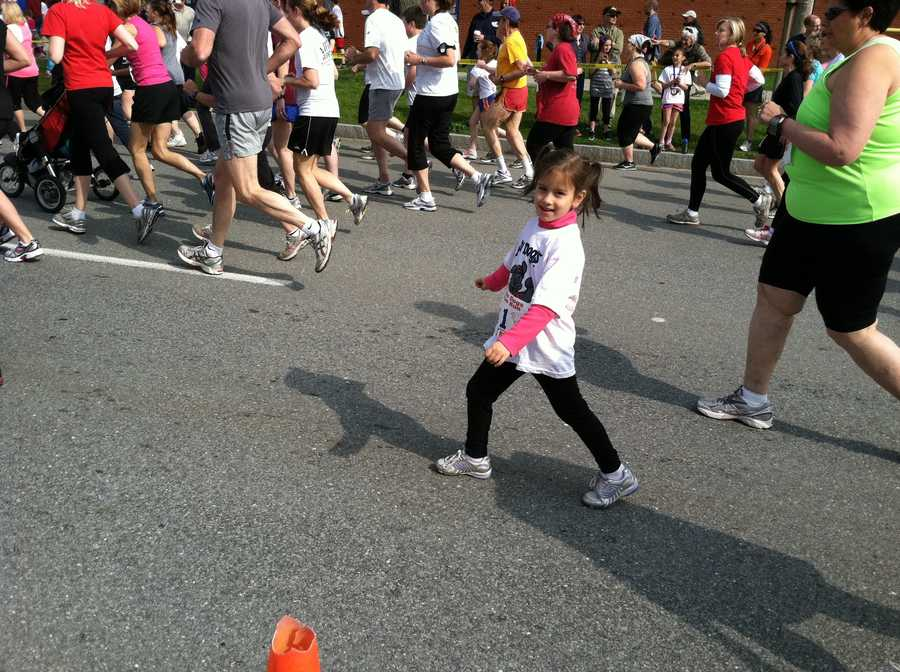 People of all ages participated in the race.