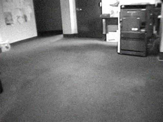 """""""She just kept walking straight ahead and then I realized it wasn't Alice. So I put down the coffee pot I walked into the hallway where this person had been and there was no one there,"""" said Earnhart."""