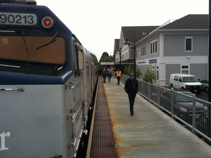 A special train carrying state and federal officials and guests traveled to Freeport and Brunswick for the events.