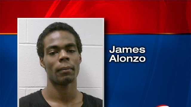 James Alonzo is charged with terrorizing and attempted criminal use of explosives.