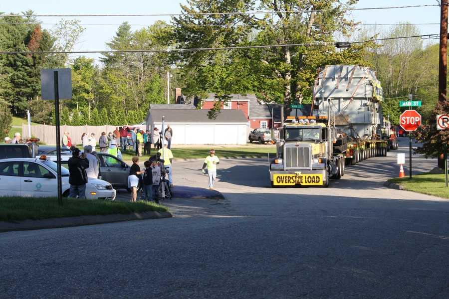 Transformer taken to substation on Larrabee Road