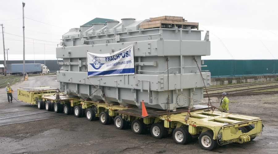 Transformer arrived in Portland last Saturday