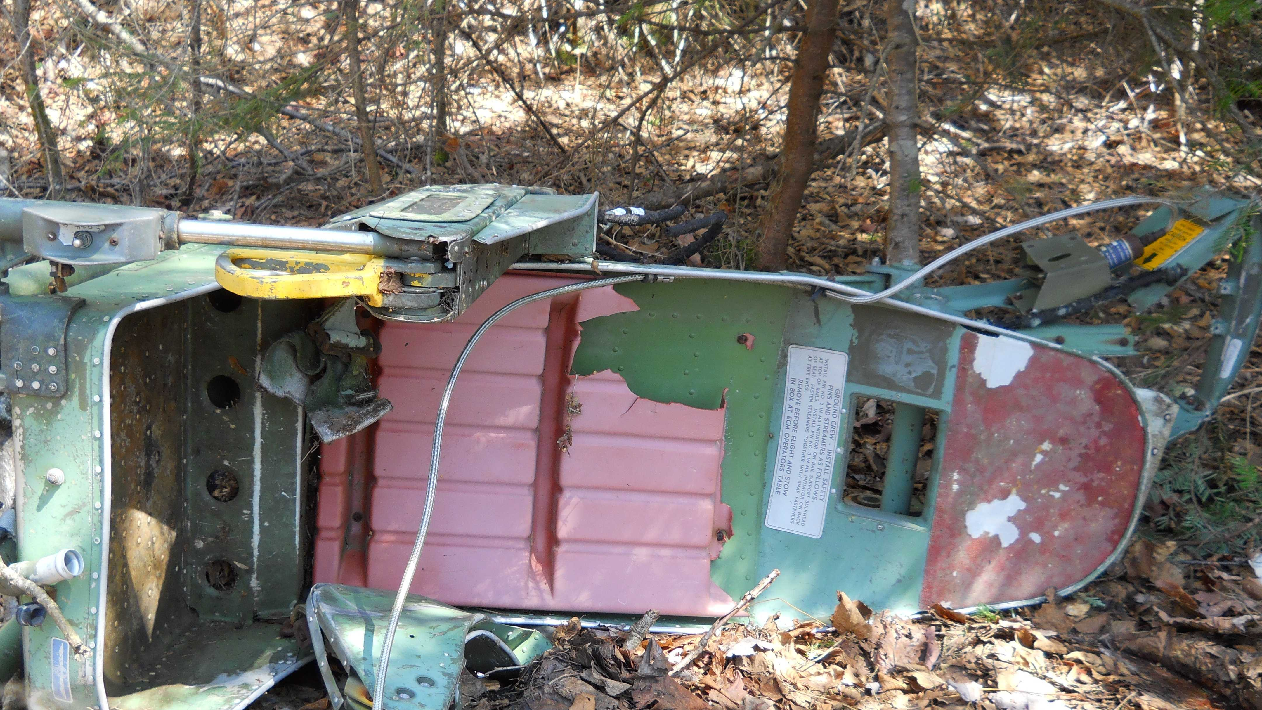 A forest ranger has found what's believed to be an ejection seat from a B-52 bomber that crashed on a western Maine mountain nearly 50 years ago, killing seven airmen