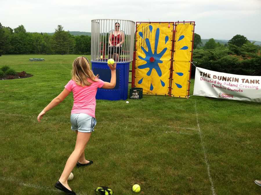 Heritage Day included a dunk tank.