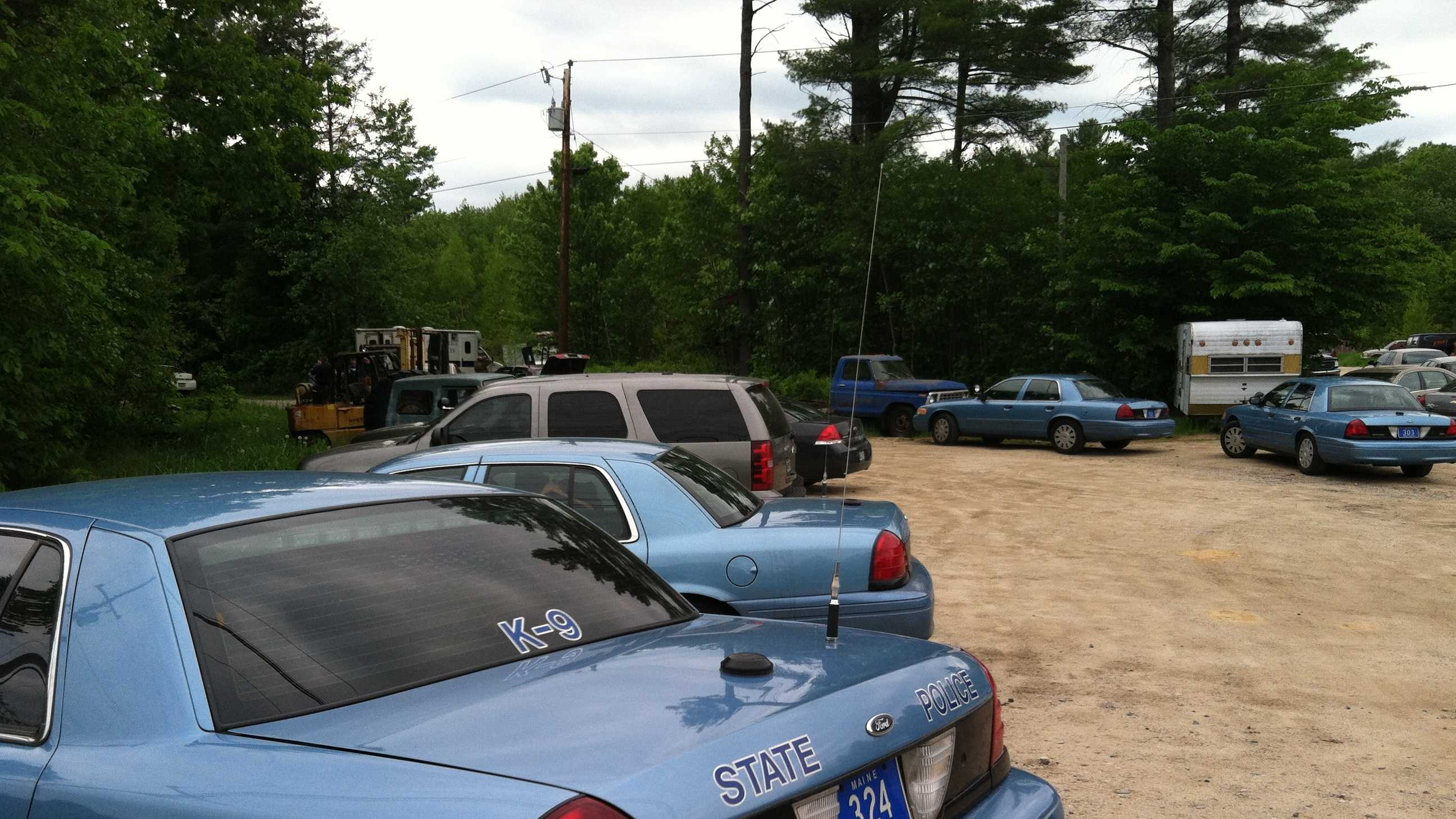 Standoff on Route 4 in Turner