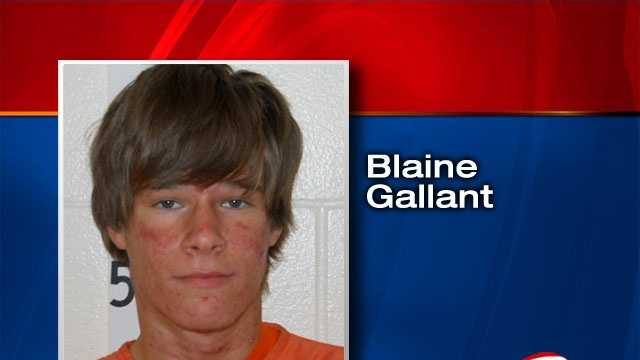 Blaine Gallant is facing burglary and theft charges.
