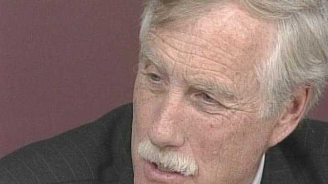 Angus King issues challenge to fellow Senate candidates