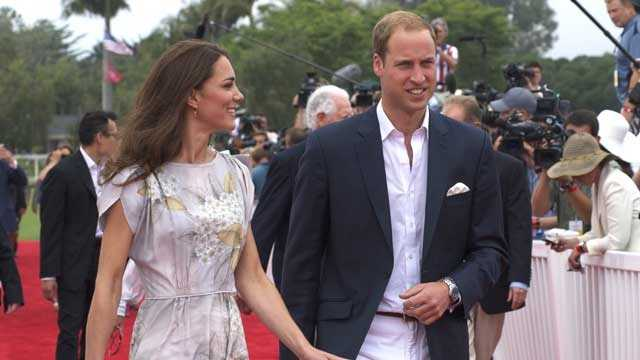 William and Kate arrive at polo grounds