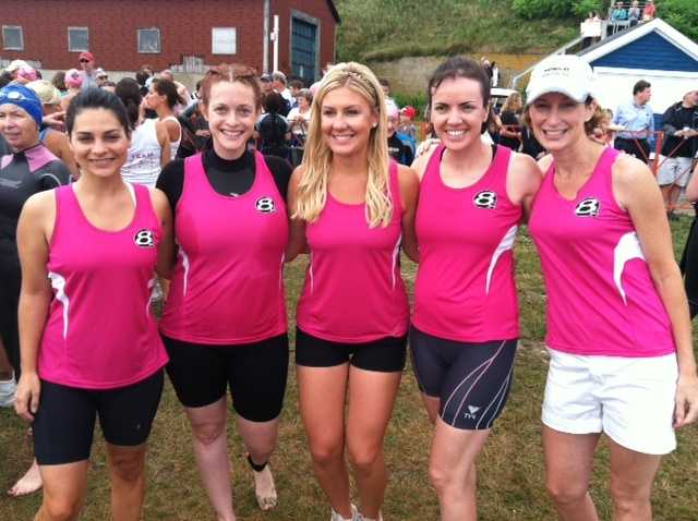 Some of the women of News 8 are getting ready for the race.