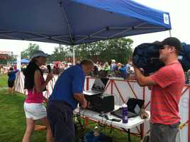 News 8 photojournalist Sean Guiggey captures Shannon Moss in action at the finish line.