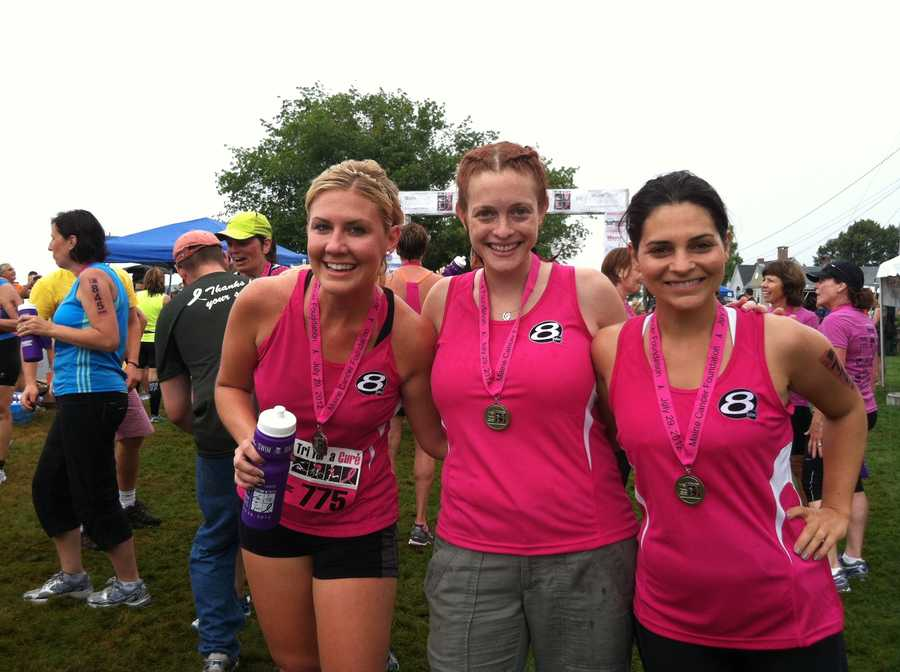 Team News 8 finishes the Tri For a Cure.