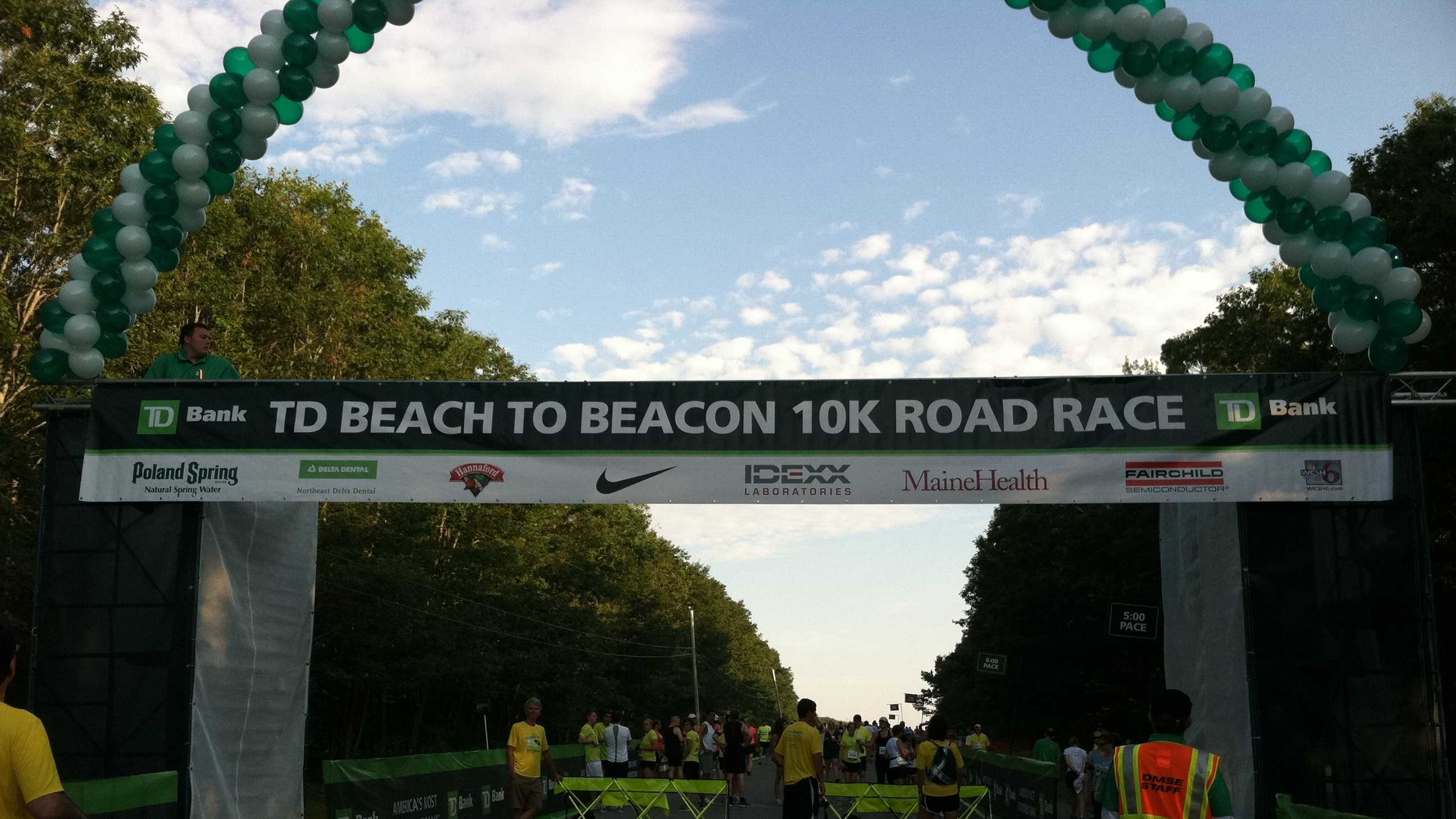 The starting line for The 15th Annual Beach to Beacon was near Crescent Beach State Park in Cape Elizabeth.