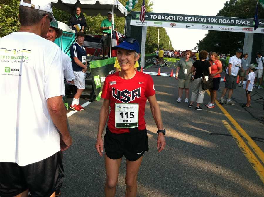 Beach to Beacon founder Joan Benoit Samuelson runs the race every 5 years.