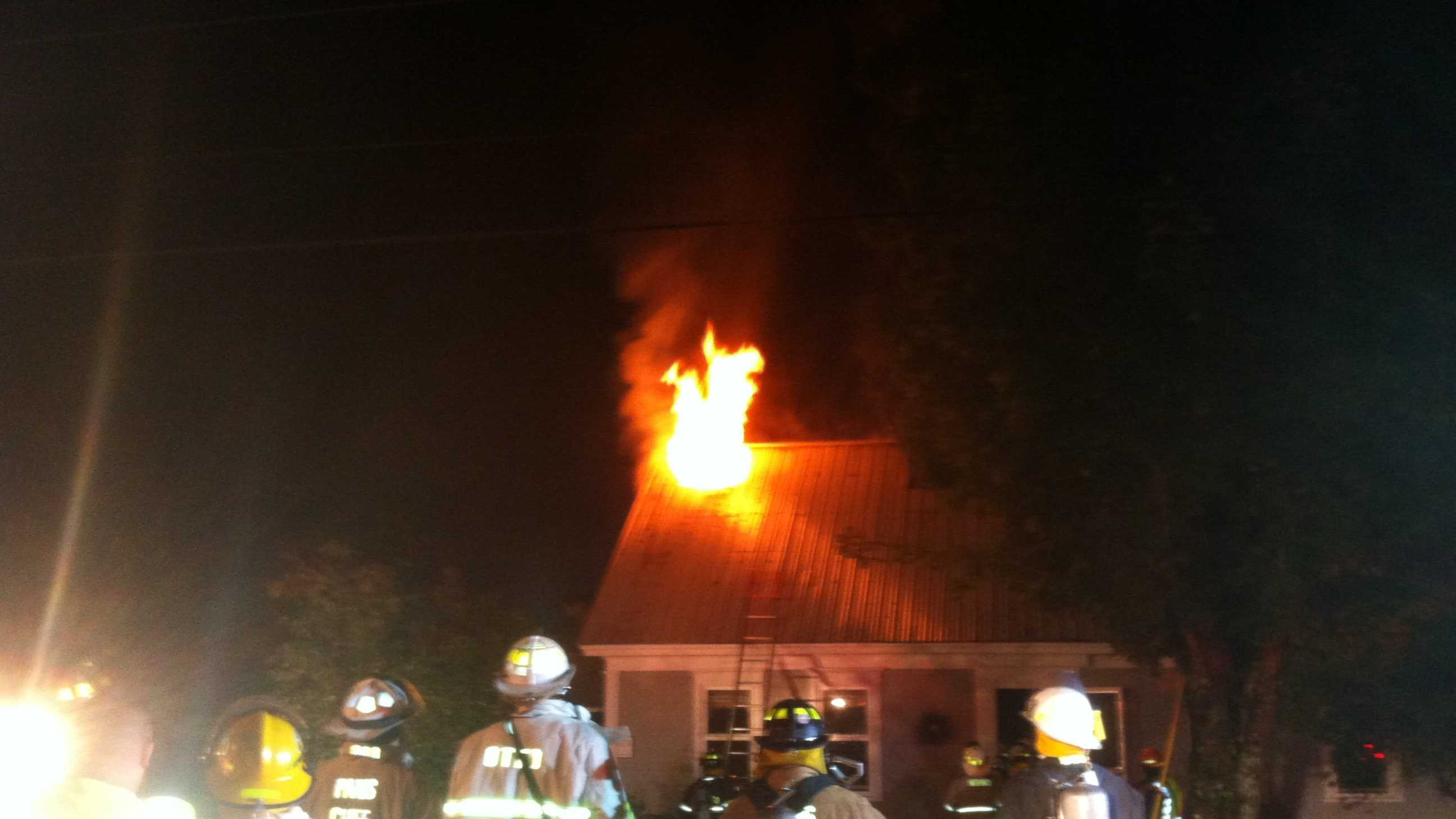 House fire on Town Road in Harrison.