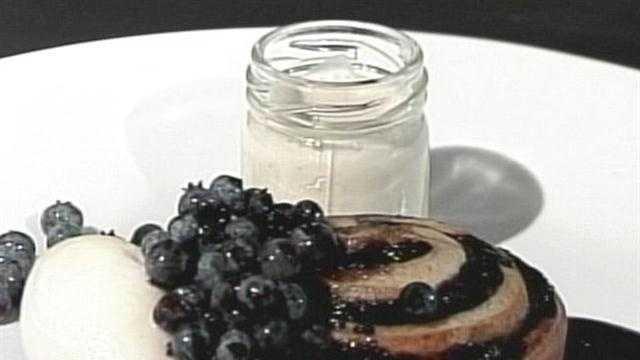 PORT Morning Menu Blueberry Cinnamon Bun