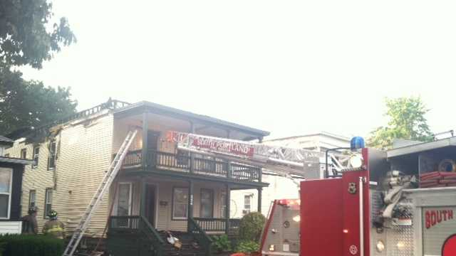 Fire heavily damaged an apartment building at 554 Main Street in South Portland.