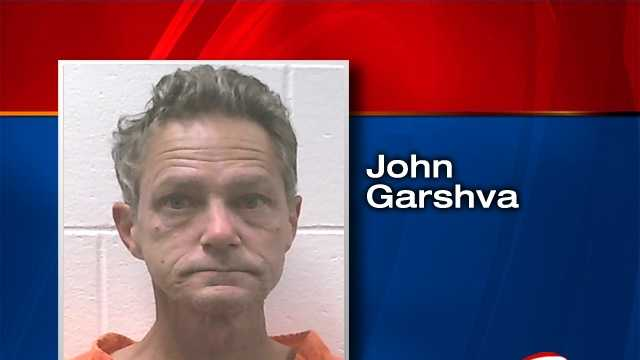 John Garshva is a convicted sex offender and is accused of exposing himself to two young girls in a Lewiston park.