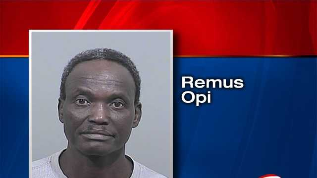 Remus Opi is charged with operating under the influence and indecent conduct.