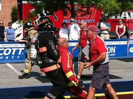 Firefighters from all over the United States and Canada were in Freeport competing in the grueling firefighter combat challenge on Friday.