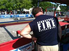 The challenge is a firefighter obstacle course which they say is a very good representation of what they might encounter during an actual fire.