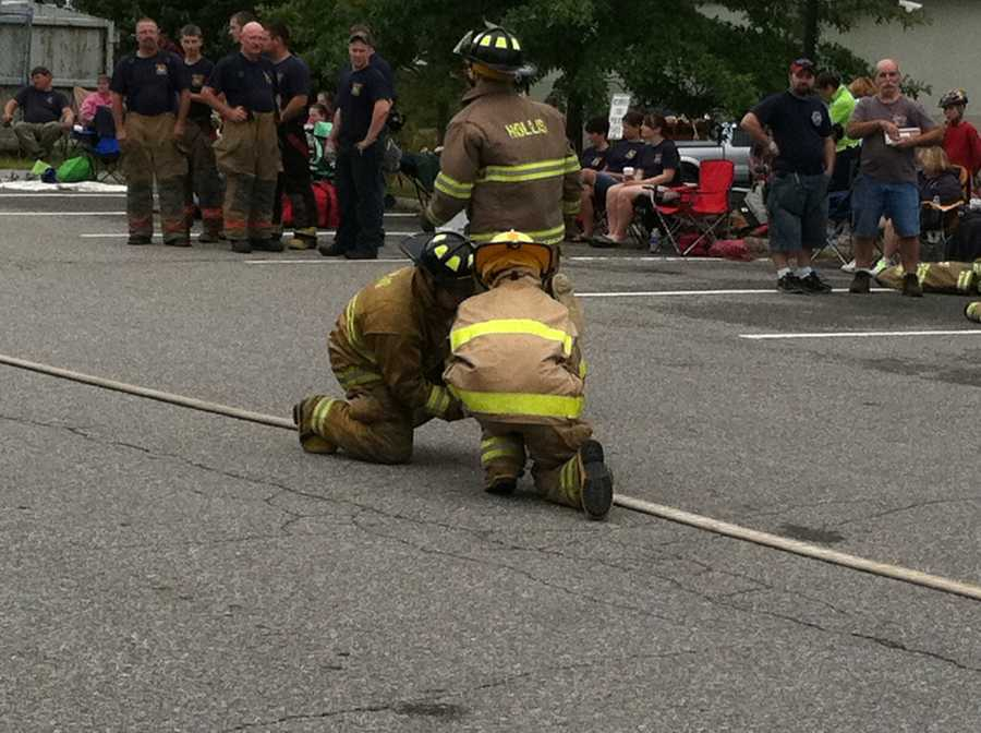 The muster was held in Freeport on Sunday.