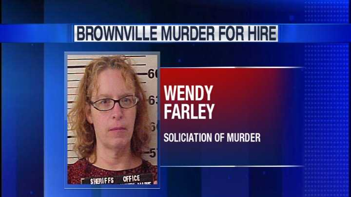 Wendy Farley is charged with criminal solicitation for murder.