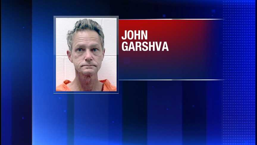 John Garshva is charged with two counts of visual sexual aggression.