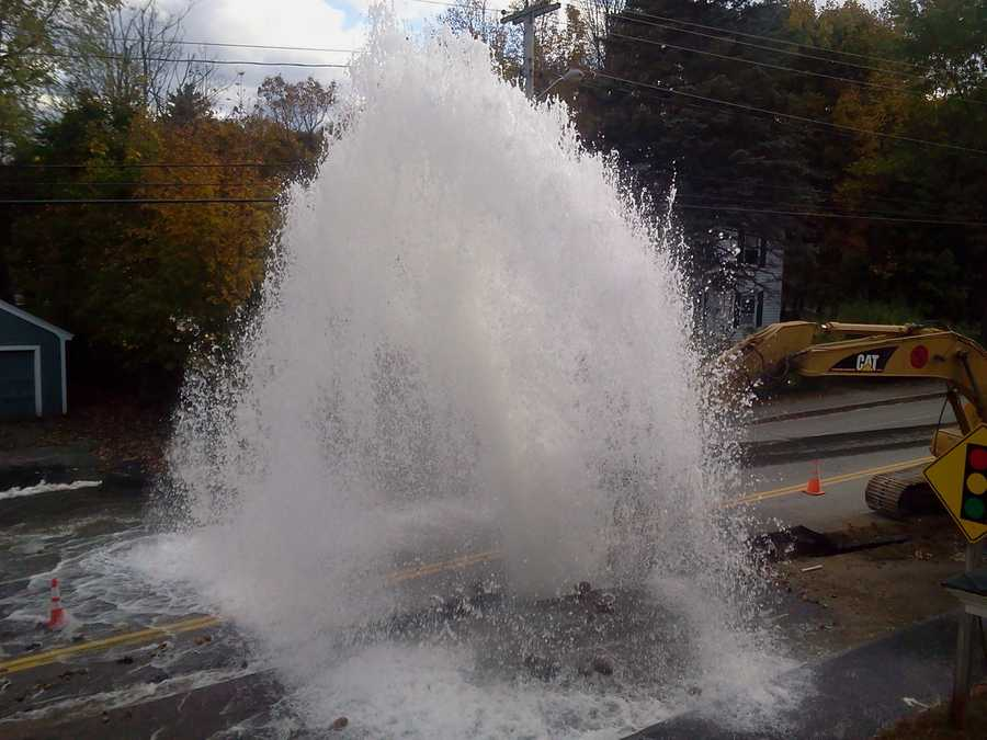 Officials said the water main break closed Court Street between Russell and Park avenues