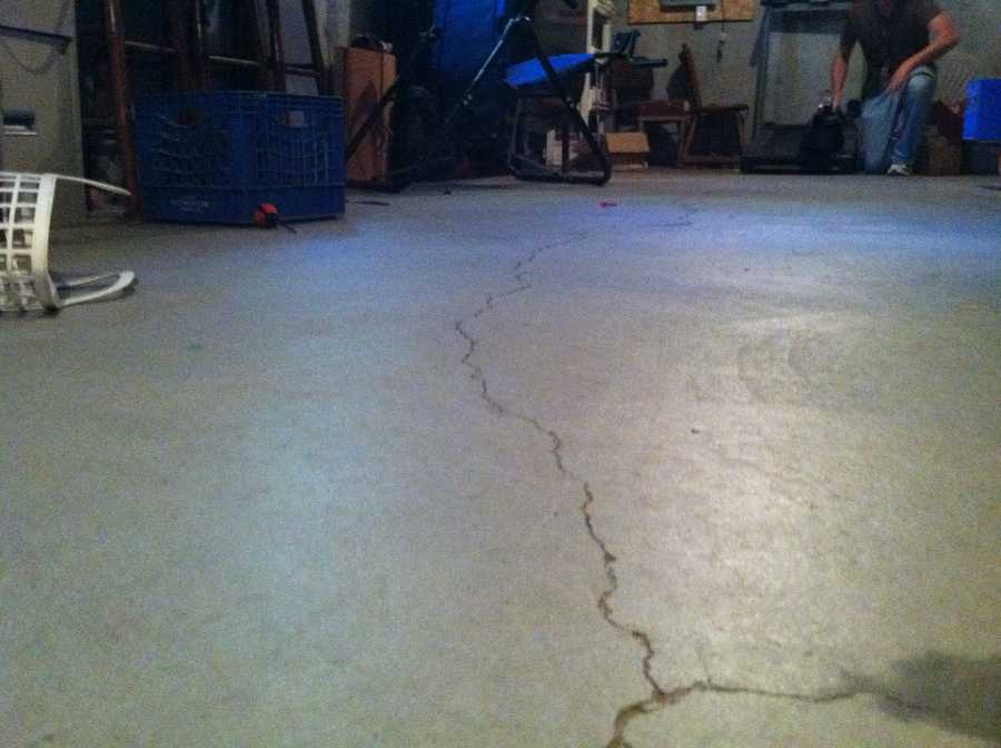 Waterboro resident Chris Lancaster said the earthquake left cracks in his foundation.