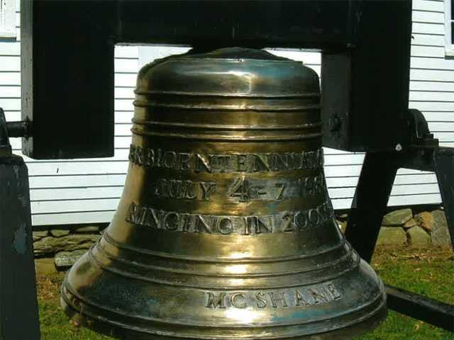 State police are investigating the theft of a 300-pound solid bronze bell commemorating the town of Turner's bicentennial.