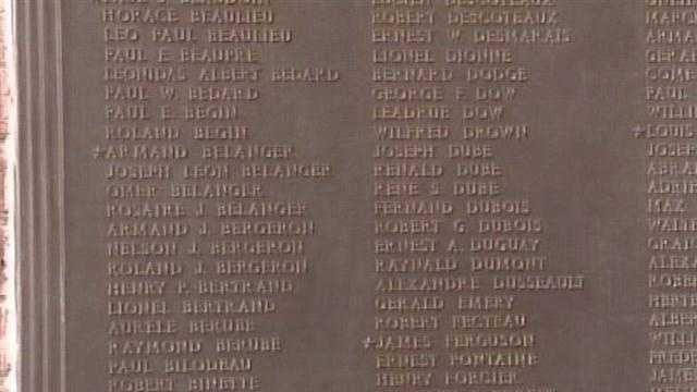 World War II plaque in Biddeford re-dedicated