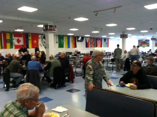 Lewiston High School Army Cadets honor Veterans by providing them a free breakfast on Monday.