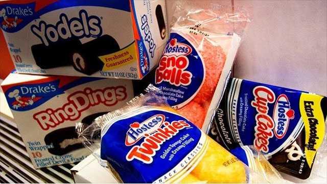 Hostess, Twinkies, Sno Balls, Ring Dings, Yodels, CupCakes