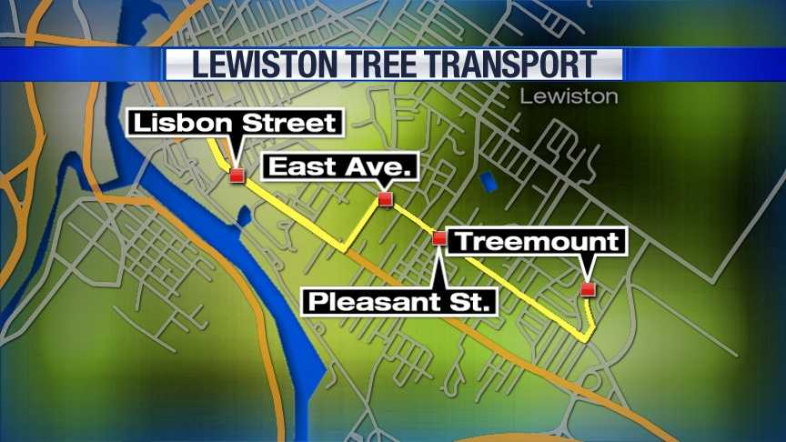 The spruce tree will be cut down from at 10 Treemount around 8 a.m. From there, the tree will be loaded on to a truck and transported to Dufresne Plaza on Lisbon Street.