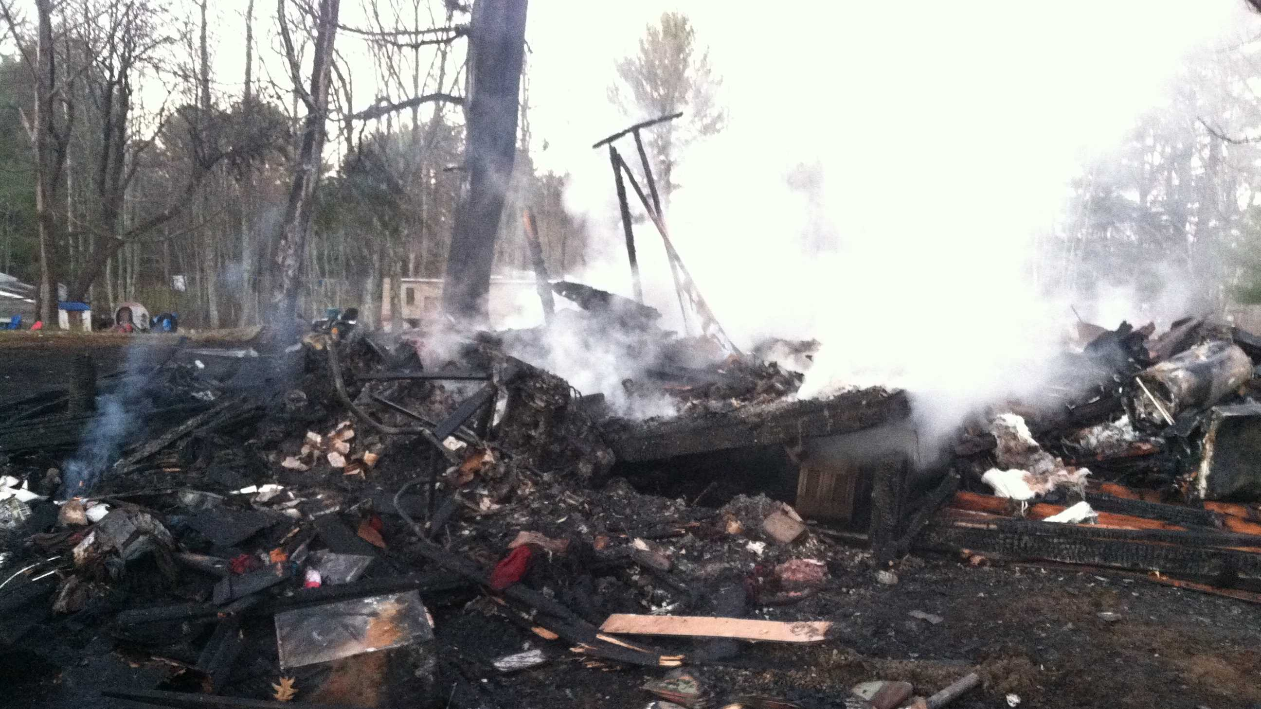 Fire crews tried to save home of one of their own on Nov. 22.