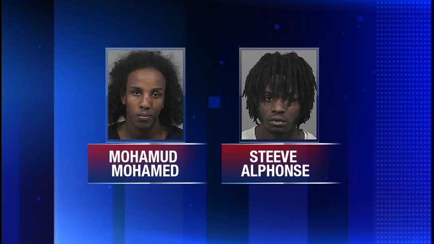 Mohamud Mohamed and Steeve Alphonse are charged with disorderly conduct.  Police said the pair was involved in a fight at the Maine Mall.