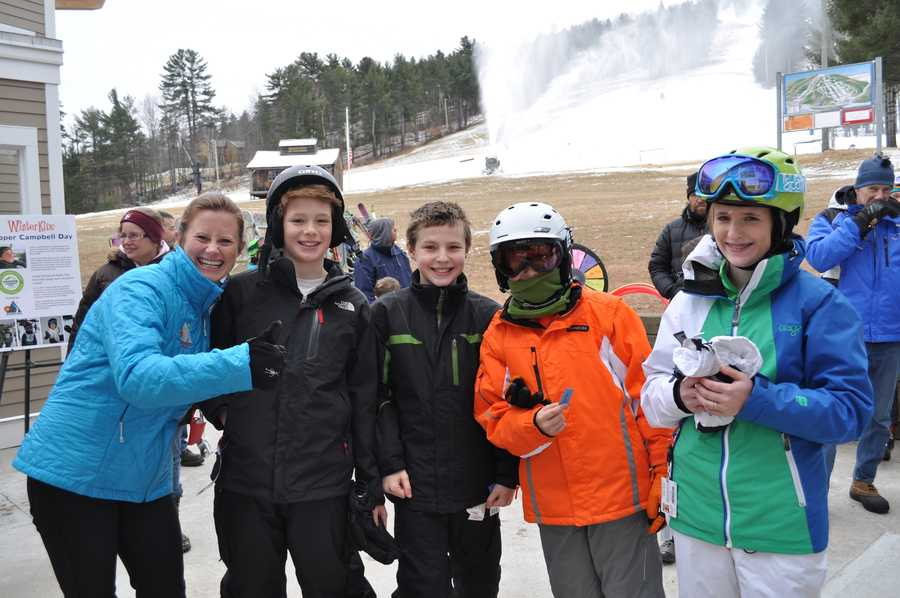 75 children registered in advance for their free ski lessons