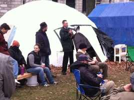 Members of the national Occupy movement in Portland engage in a legal battle with the city over their right to camp out in the park.  Occupy Maine was eventually evicted.