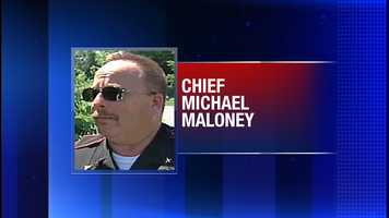 Greenland, NH Police Chief Michael Maloney is shot and killed while serving an arrest warrant for drug charges. Four other officers are wounded.